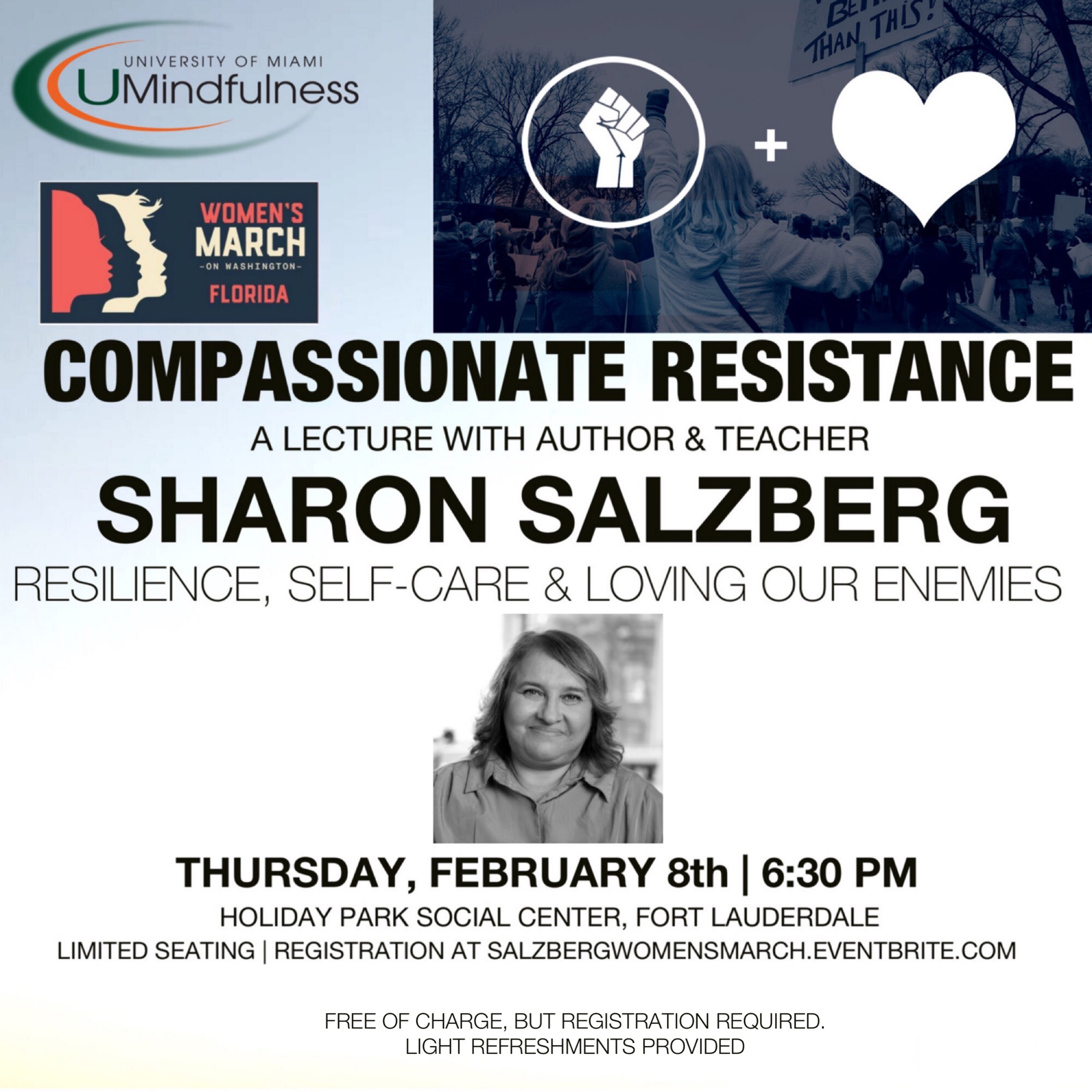 Compassionate Resistance: A lecture with Sharon Salzberg