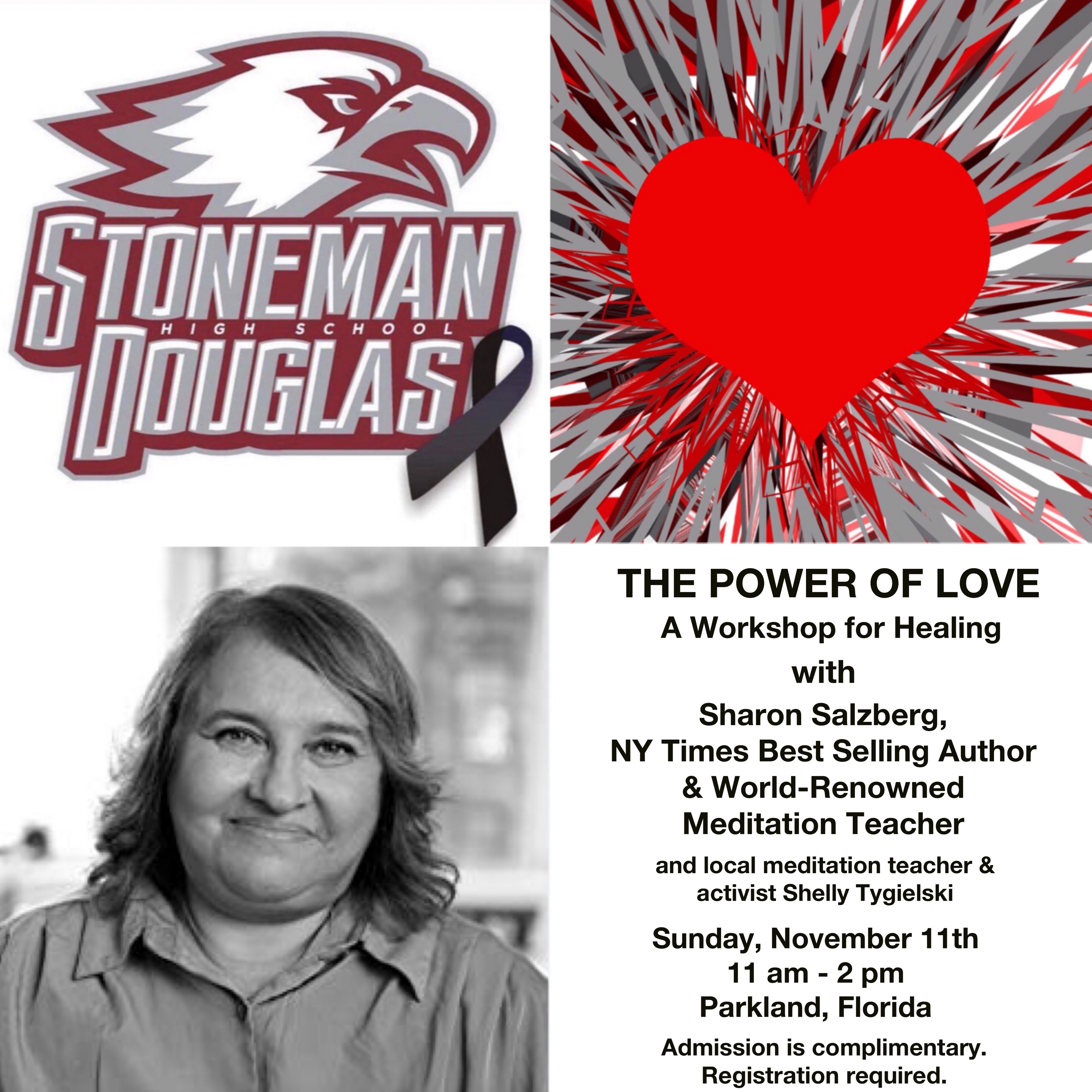 The Power of Love: A Healing Workshop in Parkland with Sharon Salzberg + Shelly Tygielski