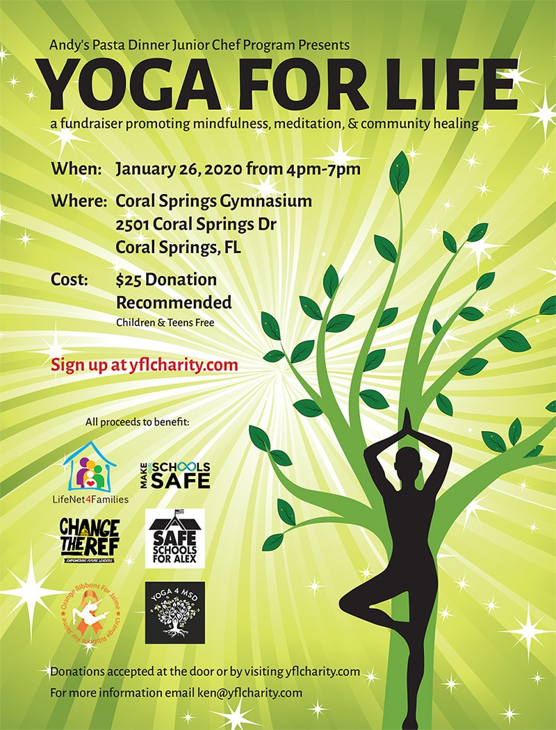 Yoga For Life:  A Fundraiser Promoting Mindfulness, Meditation and Community Healing